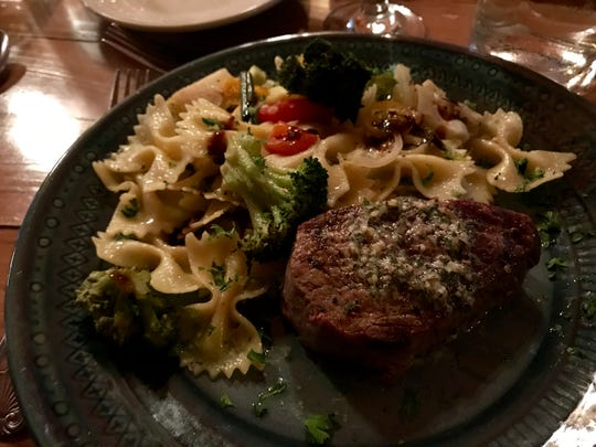 An exceptionally tender Filet mignon was served on a recent night at the Upland Angler Lodge and Outfitters.