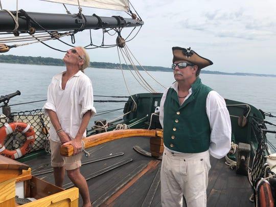 Allen Koning, left, an ordinary seaman; and Bob Harnish,