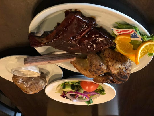 The rotisserie chicken and ribs are the signature items
