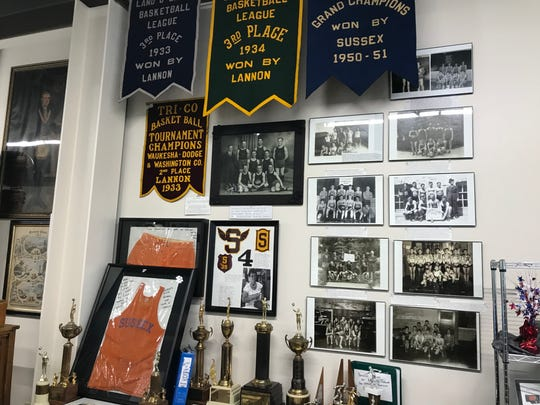 The historium includes local sports memorabilia.