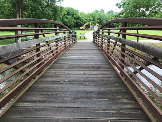 A new park will be built north of the bridge that crosses the Bark River in downtown Delafield.