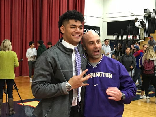 Brandon Kaho, with Reno coach Dan Avansino.