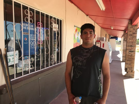 "Pablo Barcenas was born in Tornillo and returns whenever he can. ""Everybody knows everybody,"" he says. Barcenas, 21, works about 250 miles away in Odessa, Texas."