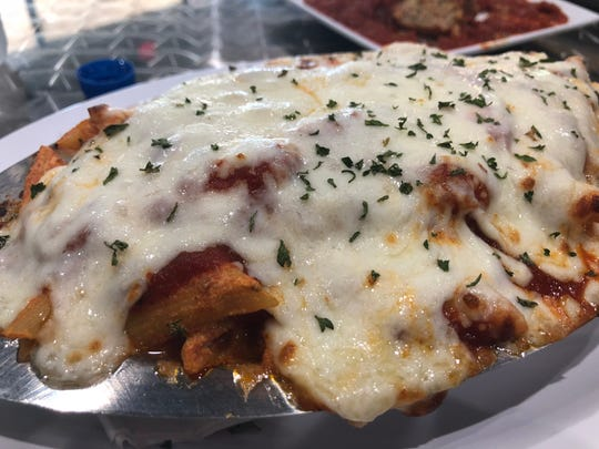 Cheesy baked ziti ($8.95) is a shareable dish found
