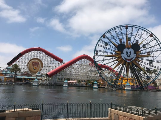 Disneyland unveils the highly anticipated Pixar Pier on June 21, 2018, in Anaheim, Calif. The Incredicoaster is an update of California Screamin'.