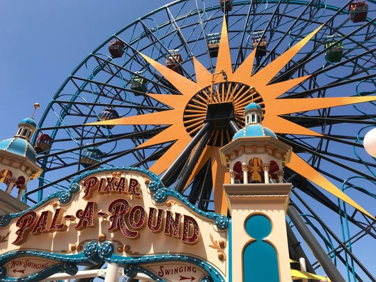 Disneyland unveiled their new Pixar Pier in California