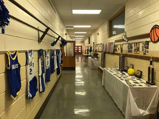 Empy hallway at St. Gregory Catholic School a few weeks