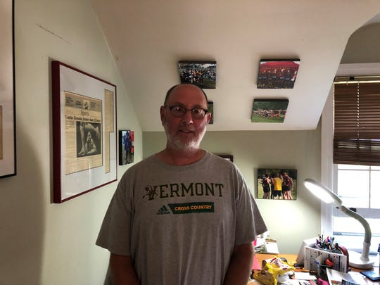 Rich Bernstein in the office at his Ithaca home on