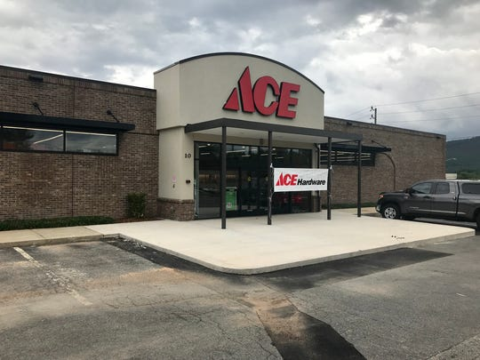 The Ace Hardware store in Enka, located in the former