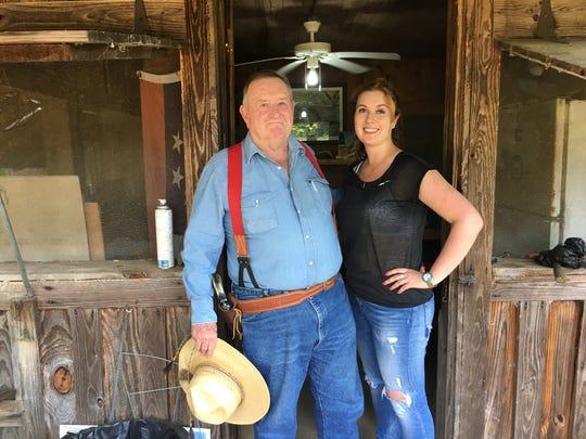 Jim Jenkins and Vera Yurchenko at the cabin.