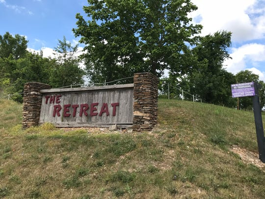 A residential subdivision, called The Retreat, makes it clear that trespassing is not allowed.  The homes are on the south side of the Finley River, just off of Highway 13.