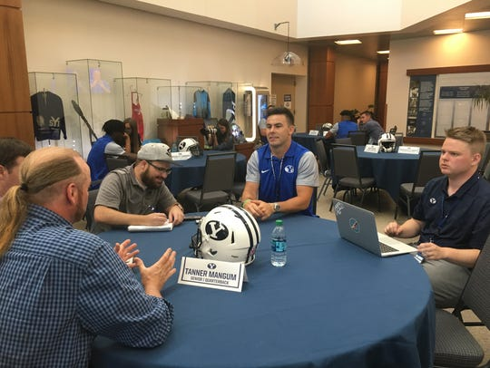 BYU football media day was held June 22, 2018, in Provo.