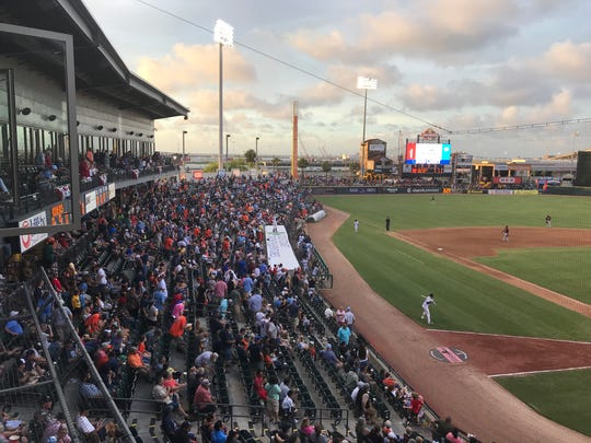 The largest crowd in Whataburger Field history watched