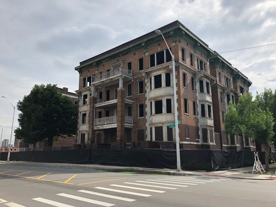 This building at 2467 Cass Ave. in Detroit, photographed June 20, 2018. A May 21, 2018 blight notice originally required corrections by May 30, 2018.