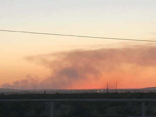 Fire in Lincoln National Forest