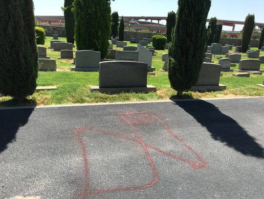 The B'nai Zion section of Concordia Cemetery was vandalized