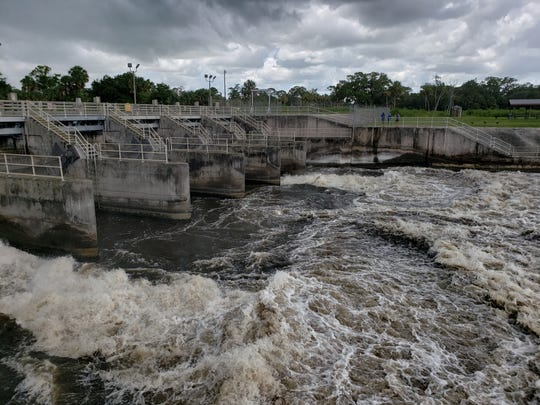 The discharges from C-44 through the St. Lucie Lock and Dam resumed Monday after a two-day break at a rate of 820 million gallons per day.
