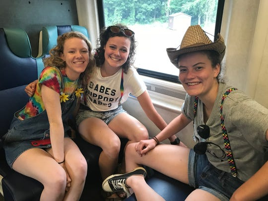 For Kiernan Sellars (left) and for sisters Maureen (center) and Sharon (right) McCarthy, Sunday was their first Pride experience.