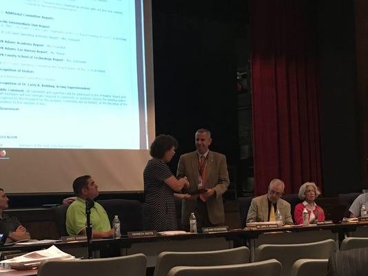 Acting Superintendent Larry Redding recognized
