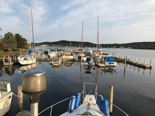 A general view of a marina on Betsie Lake, near Frankfort,