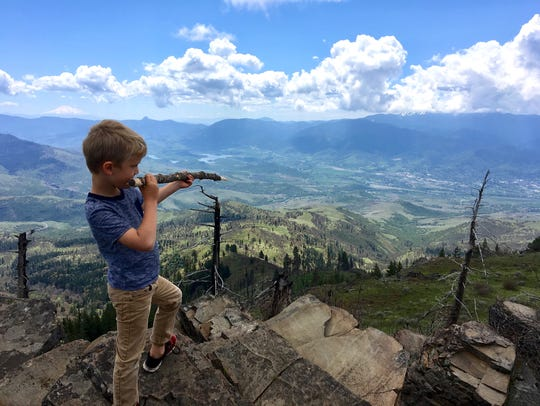 Hike up Grizzly Peak near Ashland, Oregon.