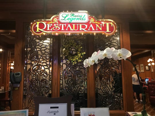 Racing Legends restaurant at Delaware Park is on the second floor of the casino.