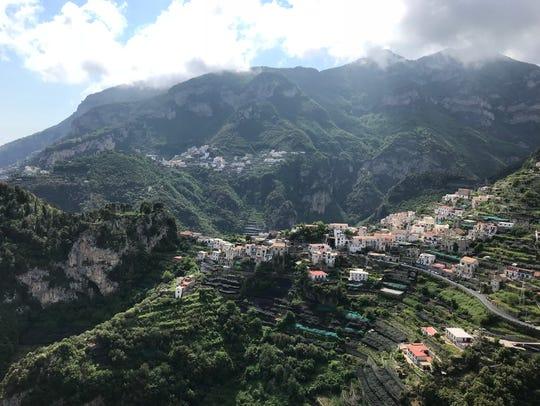 Along the Amalfi Coast, villages were built along the
