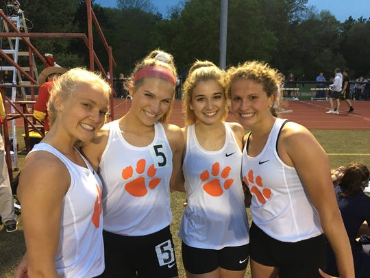 Brighton's 1,600-meter relay team consisted of (from