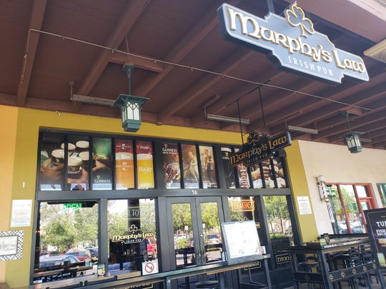 MURPHY'S LAW IRISH PUB & ALE HOUSE   This restaurant and bar entertains with rock and dueling pianos and a menu that includes Jameson wings, burgers, salads, fish and chips, stuffed Yorkshire pudding and chicken shepherd's Pie.