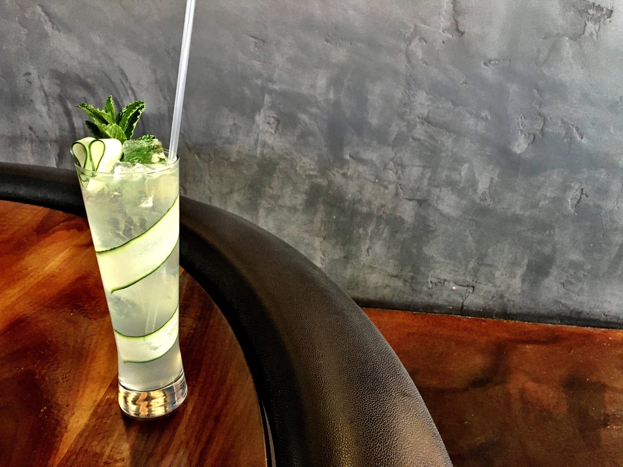 The Cucumber Spritz is a non-alcoholic drink at Bitter