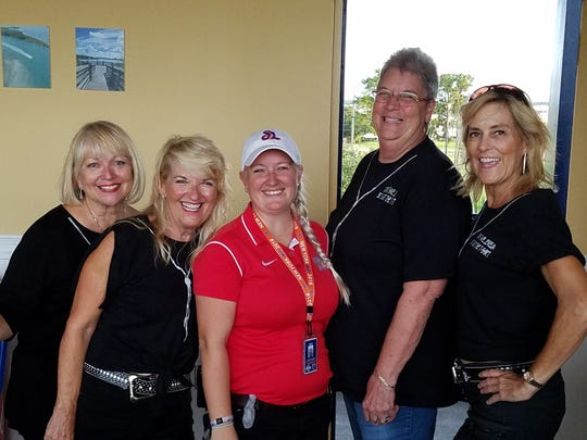 Sydney Liebman, left, Maria Seidel, Kasey Blair, Deejay Gardner and Veronica Tempone at the June 14 St. Lucie Mets baseball game, where Sydney Liebman was invited to throw out the first pitch.