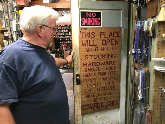 Robbie Jones, the owner of Jones Hardware in Pequannock,