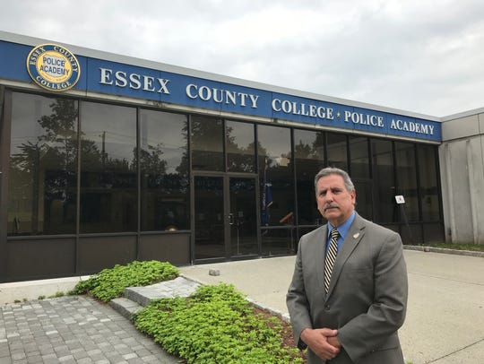 Director Rocco Miscia stands outside Essex County College's Public Safety Academy.