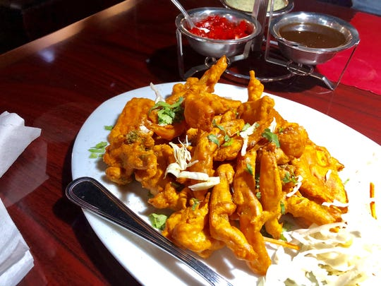 Vegetable pakora from Spice Club Indian Grill in San Carlos Park.