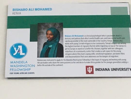 Bisharo Ali Mohamed of Kenya has Somali heritage, but