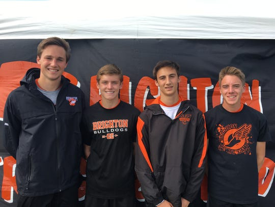 Brighton's 3,200-meter relay team consisted of (from
