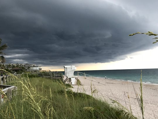 Storm clouds move over Vero Beach June 27, 2018.