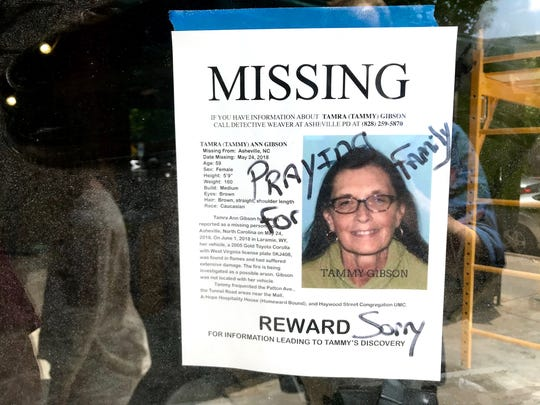A flyer for Tamra Ann Gibson, who was reported missing