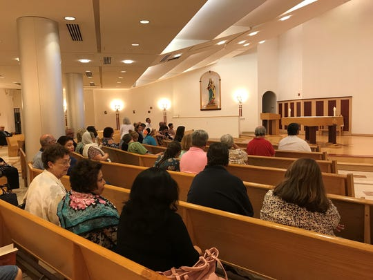 The Mass for the Mercy of God at the St. John Neumann Pastoral Center in Piscataway.