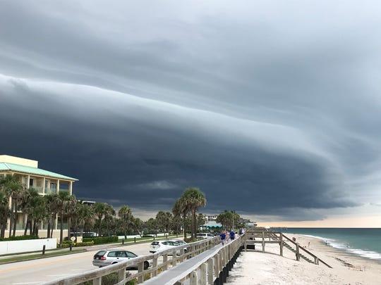 Storm clouds move through Vero Beach June 26, 2018.