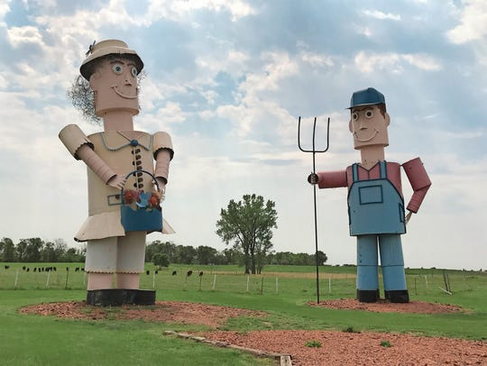 Along the Enchanted Highway  in North Dakota, there