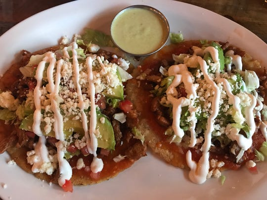 On Tuesdays, the special at Oscar's Winner's Circle is a Mexican dish that changes weekly. Sometimes it's sopes, with a choice of meat on the corn cakes.