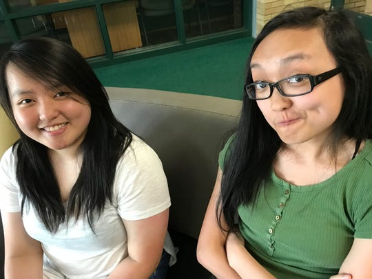 Yefang Lee, left, and Lily Thao are 17-year-old D.C.