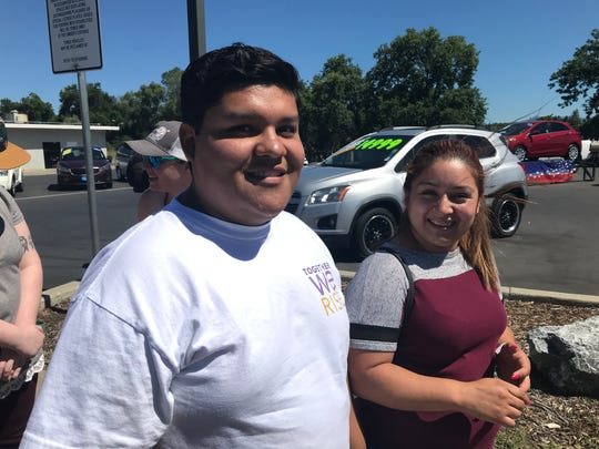 Eric Paredes, 24, and Maria Moreno, 26, drove up from