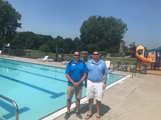 YMCA Aquatics Directors Phil Baratela of Bay View Y and Sean Anne for Eastside YMCA
