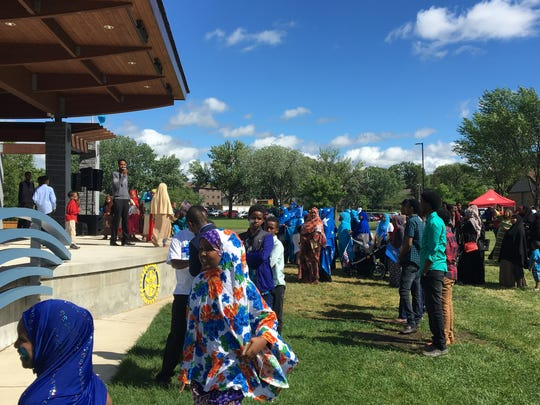 Kids run and play at the Somali Independence Day celebration