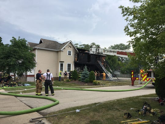 A fire damaged a house in the 1200 block of East Walnut Street in Green Bay on July 1.