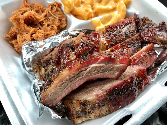 Ribs, no sauce needed, from Smokin R's BBQ in Bonita