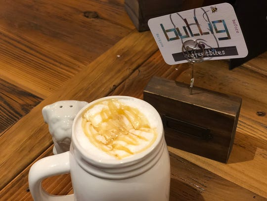 Bullig Coffee & Bites' To Be or Not to Bee latte is