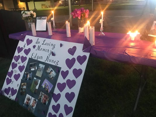 Memorial for slain 13-year-old